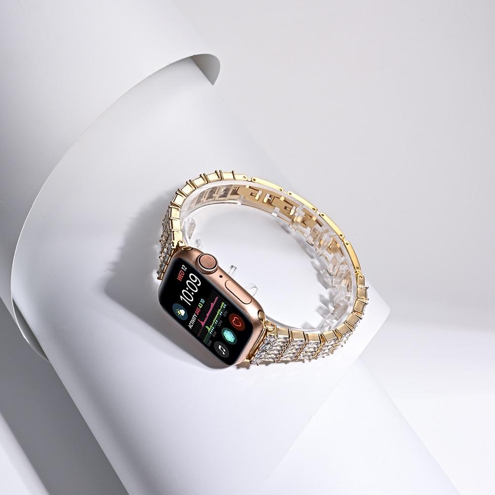 losango diamantes banda de aço inoxidável para
