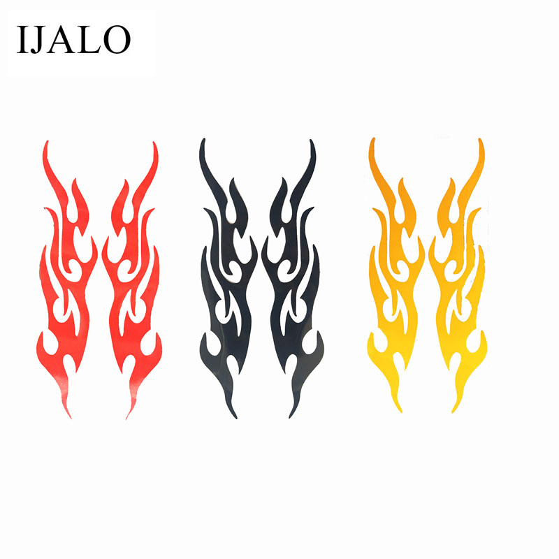 1 pair,Flame Reflective car sticker for Rearview Mirror,19x4CM,Global Free shipping trackable sticker
