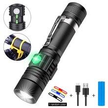 цена на LSL USB Rechargeable Flashlight LED Portable Mini Torch Adjustable Focus IPX5 Waterproof 800 Lumen Focus 10W