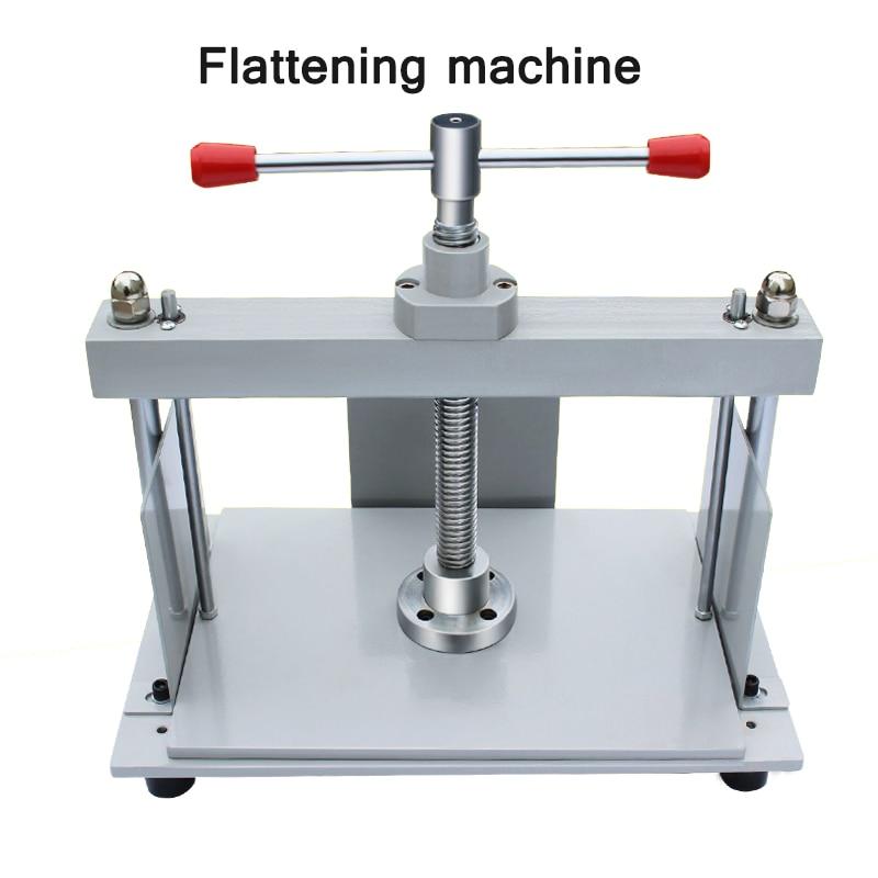 Voucher Bill Paper Flattening Machine Flattening Thickness Adjustable Manual Flattening Machine Can Pressure 130MM Thickness