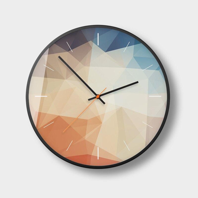 Nordique Art horloge murale moderne minimaliste mode salon salle à manger chambre horloge muet électronique horloge murale décor à la maison w63