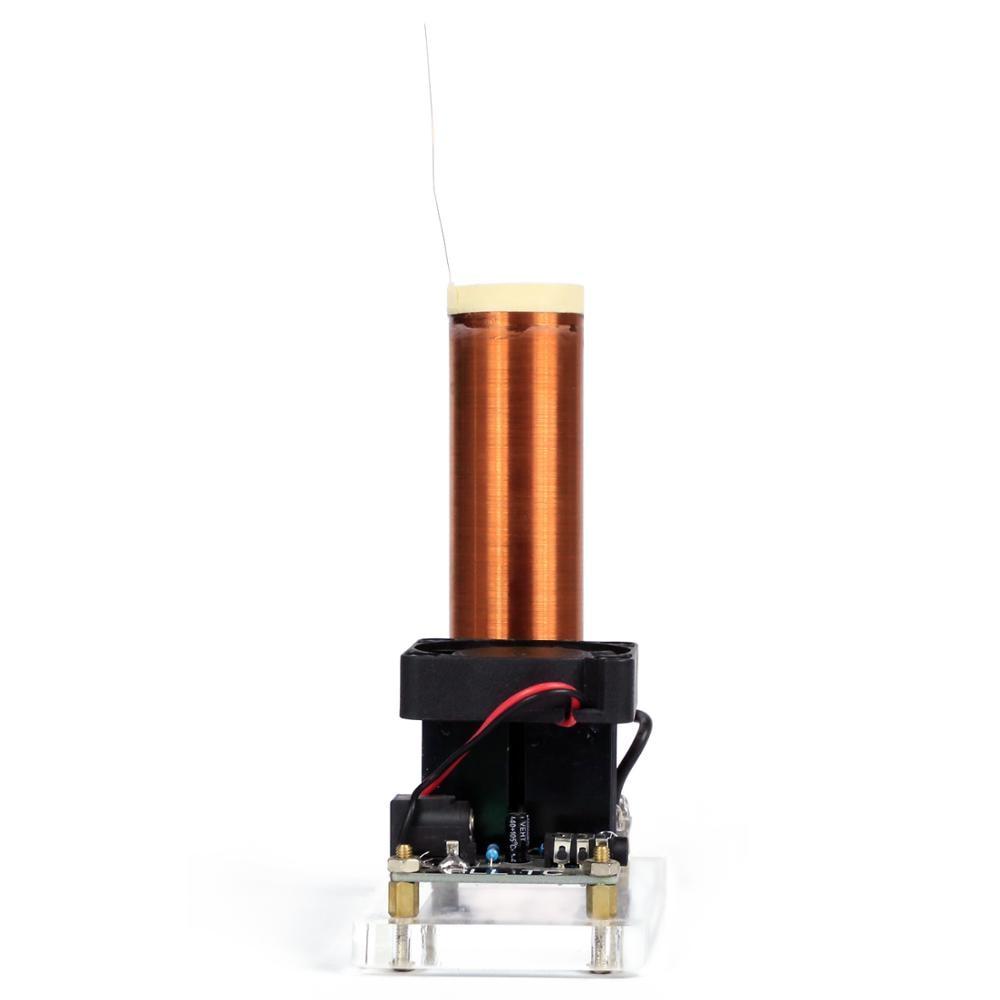 En gros Mini musique PLL SSTC Tesla bobine haut-parleur sans fil kit de bricolage avec câble d'alimentation câble Audio jouet scientifique