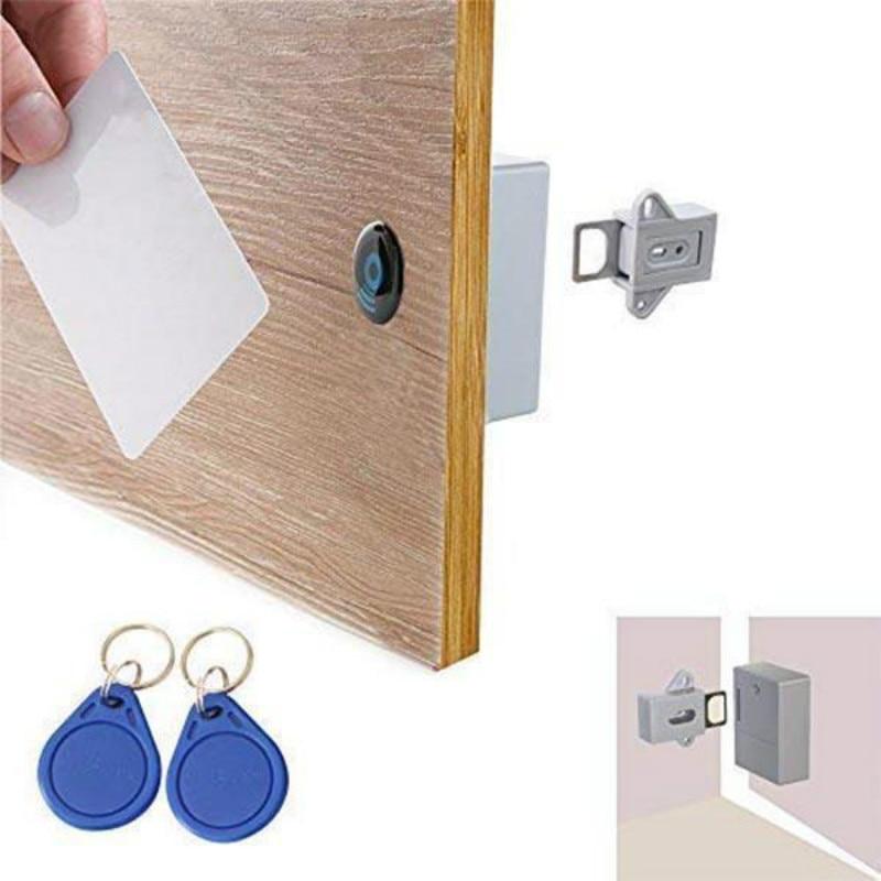 Smart Induction Drawer Lock Invisible Hidden RFID Free Opening Intelligent Sensor Cabinet Lock Locker Wardrobe Shoe Drawer Lock