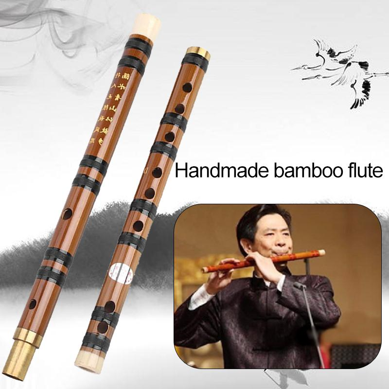 Music Study Clarinet Bamboo Flute Teaching D Tone Removable Beginner Handmade Musical Instruments Tradition Durable image