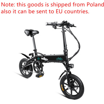 FIIDO D1 Folding Electric Bike EU 7.8Ah 30 Degree Gradeability 25km/h Outdoor Electric Bike with LCD Screen and USB Phone Holder