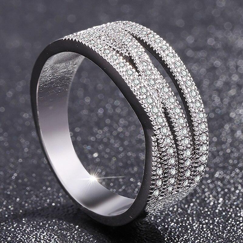 Nouveaux anneaux de mode pour les femmes partie élégante de luxe bijoux de mariée en argent bague de fiançailles de mariage de haute qualité