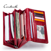Brand Quality Women Genuine Leather Wallets Coin Purse Female Long Wallet Card Holder Money Bag with Phone Pocket Lady Clutch
