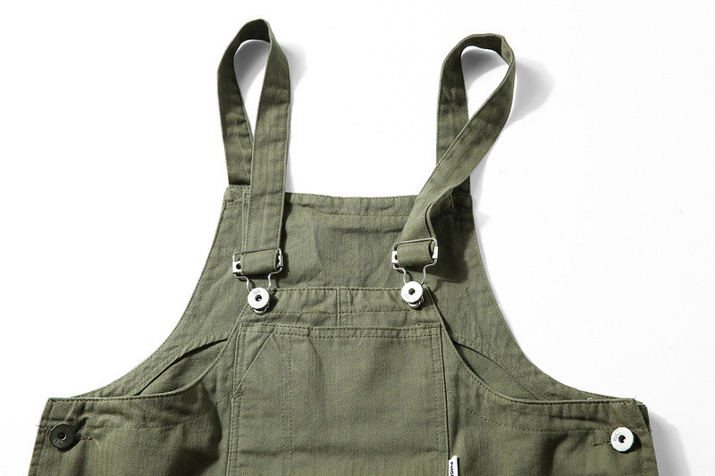 KIOVNO Fashion Men Hip Hop Bib Overalls Multi Pockets Cargo Work Streetwear Jumpsuits For Male Loose Pants (7)