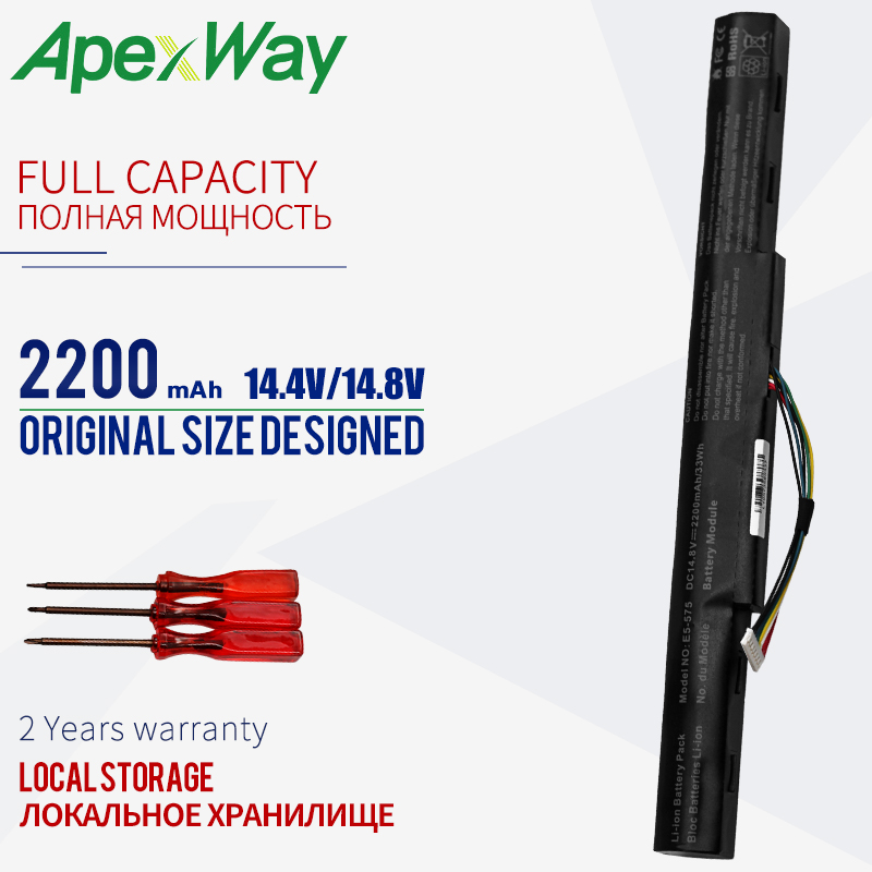 Laptop Battery For Acer Aspire E 15 E5-475 E5-575 E5-575T E5-575TG  E5-576 E5-774 F5-573 F5-771 F5-771G TMTX40-G2 AS16A8K AS16A5