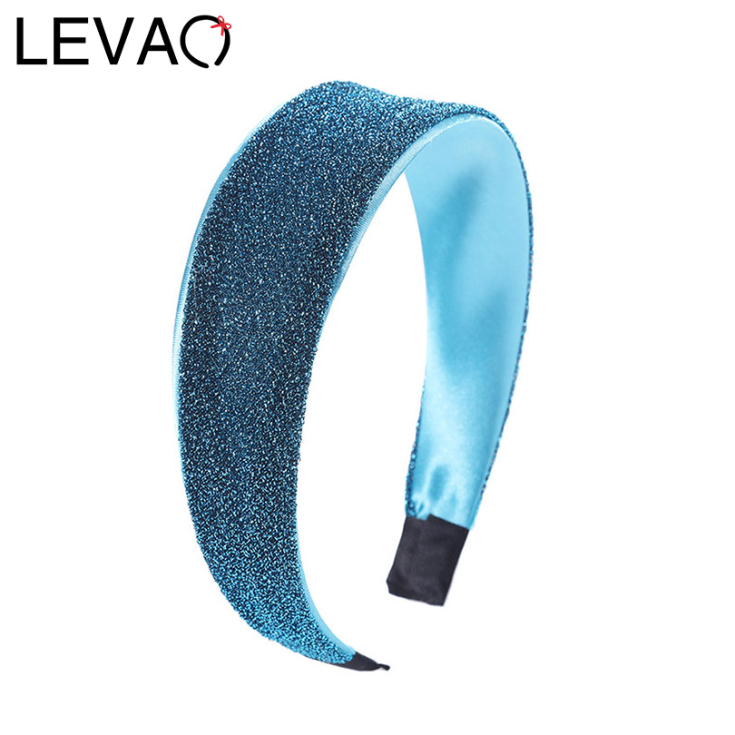 LEVAO 2020 Korean Glitter Satin Headband Elastic Hair Hoop Bezel Turban Girls Elegant Vintage Women Hairband Hair Accessories