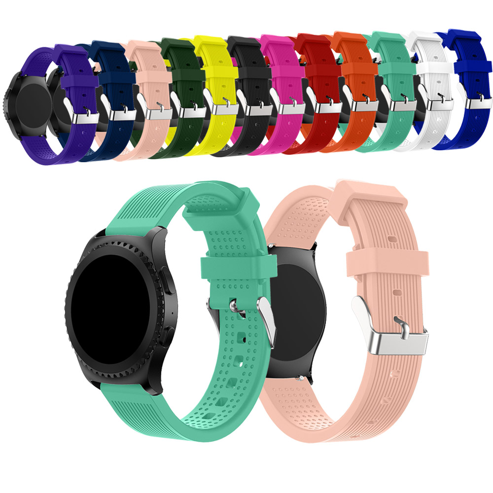 20mm Wriststrap For Samsung Gear Sport Silicone Band For Samsung Gear S2 Watchbands For Galaxy Watch 42 Mm Replacement Wristband