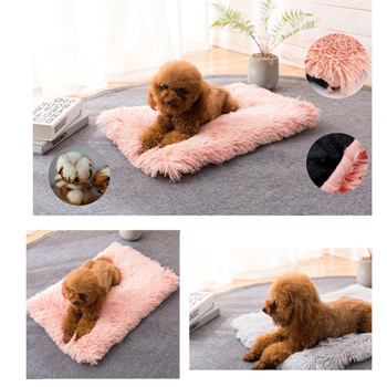 Winter Dog Bed Mat Soft Fleece Pet Cushion House Warm Puppy Cat Sleeping Bed Blanket For Small Large Dogs Cats Kennel Cama Perro image