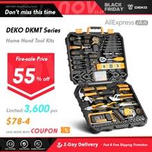 Набор инструментов DEKO, Комплект ручных бытовых инструментов с пластиковым ящиком для хранения