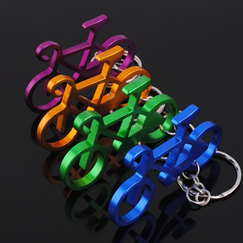 120pcs mixed Colors Bicycle Key chains Bike Key Rings Bottle Wine Beer Opener Bar Tool Metal Keychains
