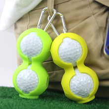 Golf-Ball-Storage-Cover with Carabiner Keychain Sport-Tools Soft-Silicone