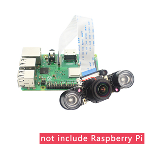 Image 3 - Cámara de visión nocturna Raspberry Pi 4 IR CUT, Focal ajustable, ojo de pez de 5MP, interruptor automático de día noche para Raspberry Pi 3 Mode B +/4B