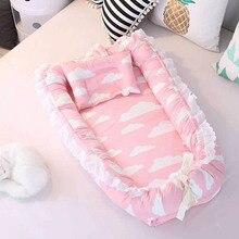 """Новорожденный ребенок Портативный кроватки, детская кроватка защита дорожная кровать для новорожденных платье для малышки с принтом """"гнездо складывающийся стирающийся матрасик 2 шт./компл. BXX025"""