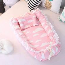 Newborn Baby Portable Crib Safety Protection travel Bed Crib Printing Baby Nest Foldable washable 2pcs/set BXX025