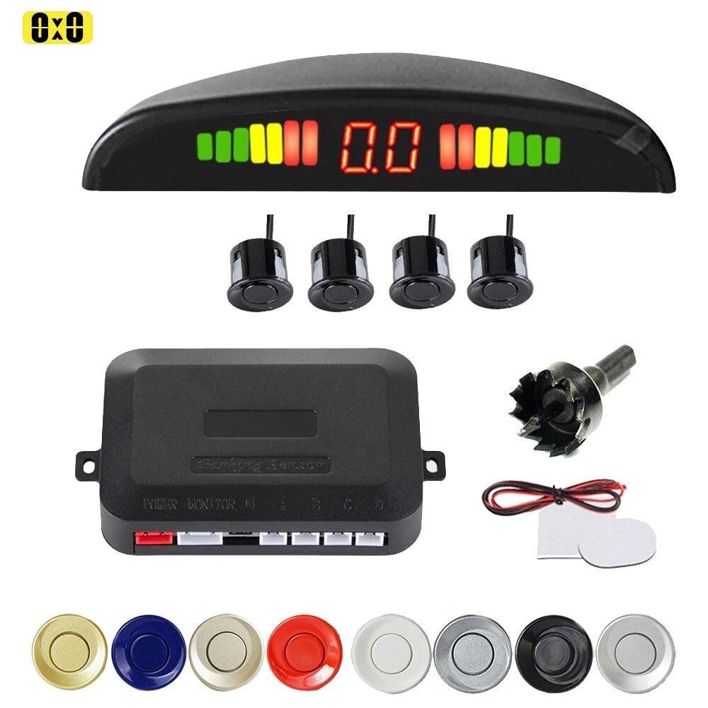 Гмаи парковки Сенсор парковки Комплект светодиодный Дисплей 4 Сенсор s 22 мм Подсветка обратный резервный радар парковки мониторы Системы 12V ...