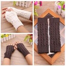 Перчатки с открытыми пальцами для мужчин и женщин зимние теплые
