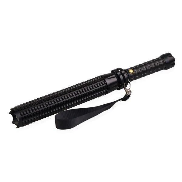 Self-defense flashlight stick extendable baseball bat LED security patrol driver outdoors emergency car equipment
