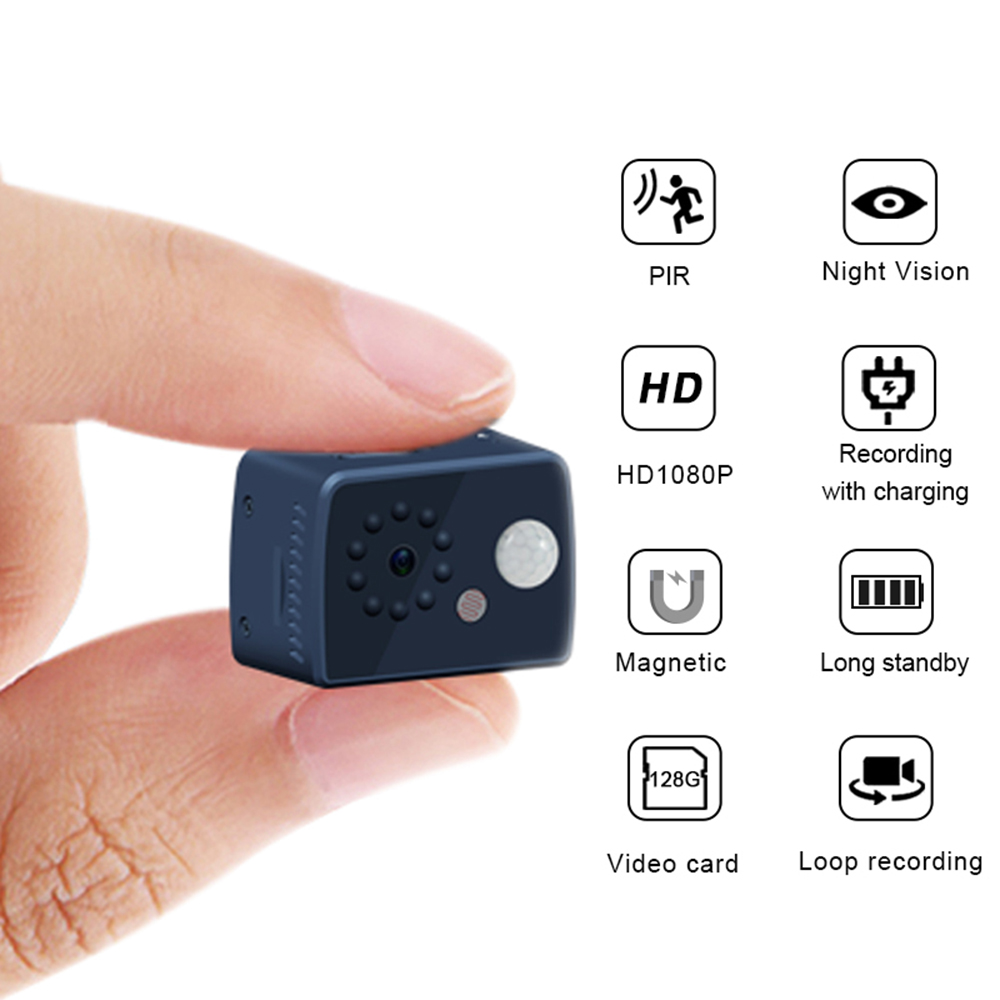 2019 New 1080P HD Mini Camera Motion Detection PIR Camera Night Vision DVR Camcorder Sport DV Video Human Body Inductive Camera