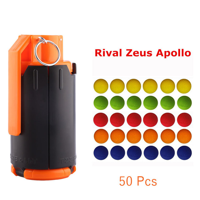 Zhenwei  Water Crystal Beads Grenades Soft Bullet Bomb with 50pcs Apollo EVA Bullet Foam Bullets for nerf Rival series Gun SafeOutdoor Fun & Sports