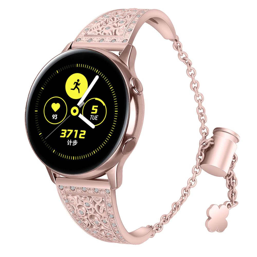 Compatible for samsung gear s3 frontier/Galaxy Watch 46mm Strap 22mm woman band Bracelet for galaxy watch active 2 20mm pulseira