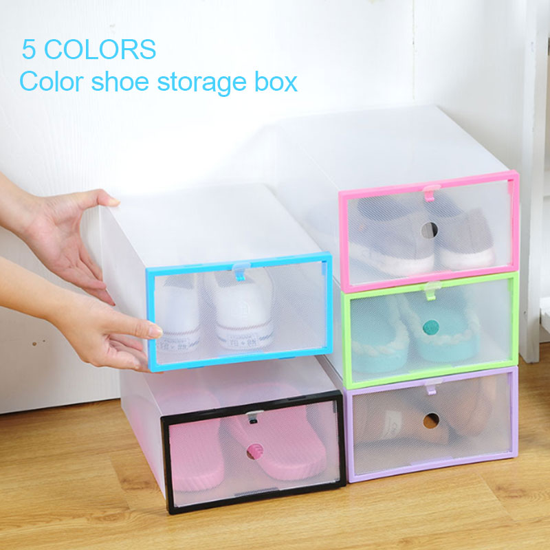 Convenient Durable Housekeeping PP Closet Storage Slipper Household Supplies Shoe Box Organization Container Save Space Home