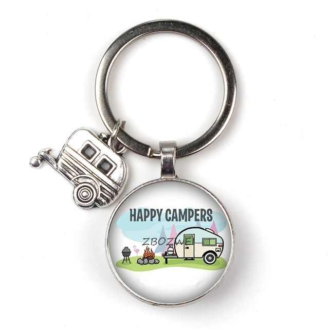 Novo padrão de personalidade carro logotipo do texto double-sided vidro keychain bonito mini modelo do carro porta chave pingente anel jóias amigos presente
