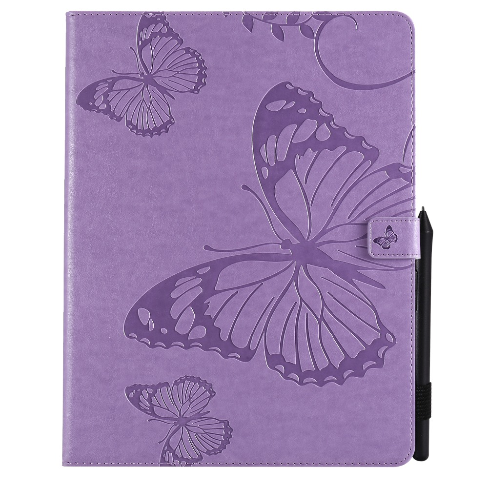 Pro 2020 Folding Folio Embossed 12.9 Butterfly Tablet iPad Cover For Case 2018 Fundas