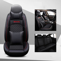 Leather Universal car seat covers For Mercedes benz c180 c200 gl ml t202 t203 t210 t211 w124 w140 w245 of 2018 2017 2016 2015
