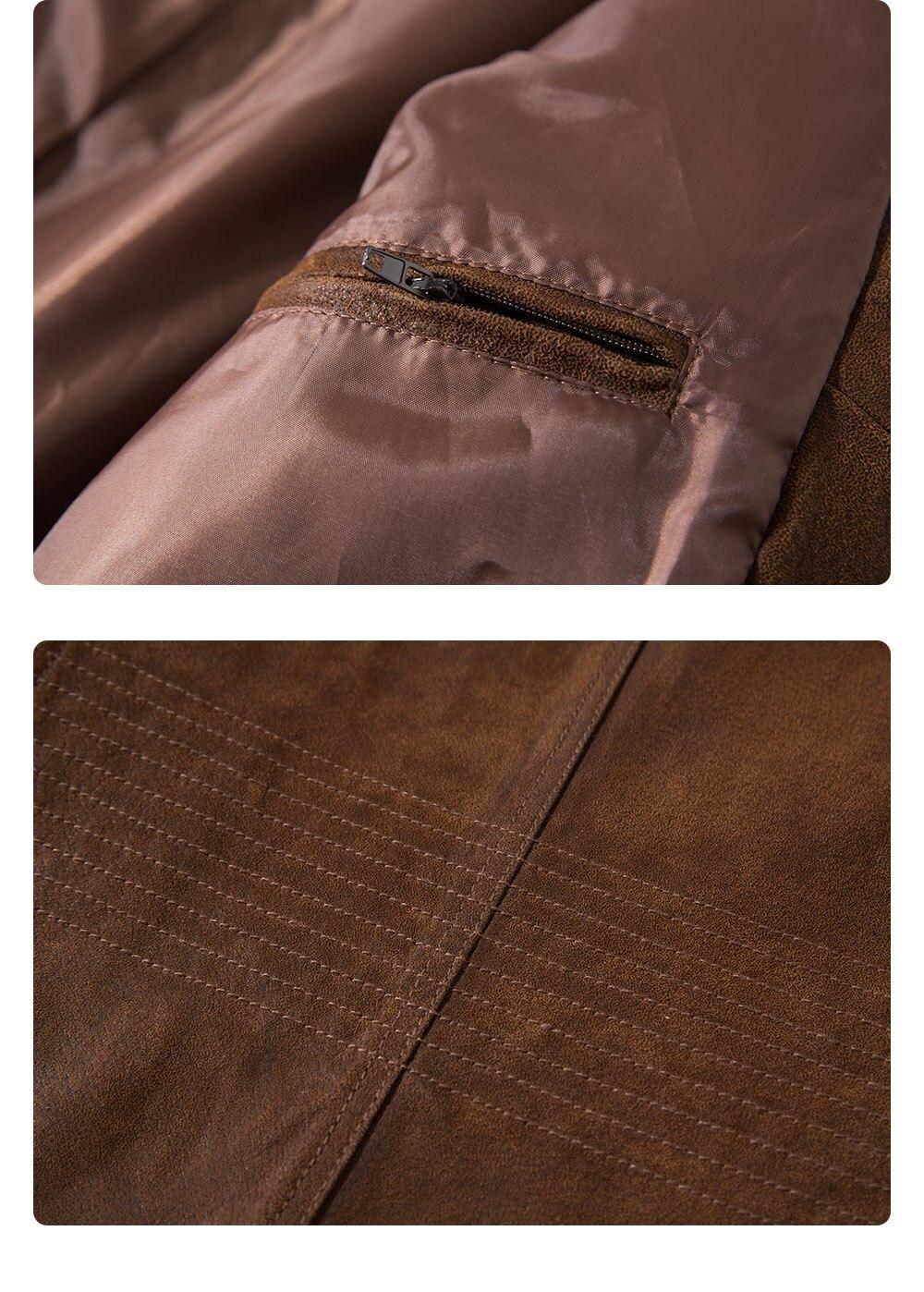 H851e3047ef8746c2a002f326a6510c73P Men's Pigskin Real Leather Jacket Genuine Leather Jackets Motorcycle Jacket Coat Men
