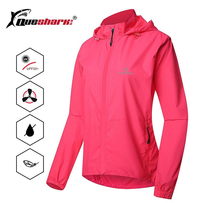 Women Cycling Jacket Lightweight Windproof UV Protection Windbreaker Softshell Breathable Bike Jersey