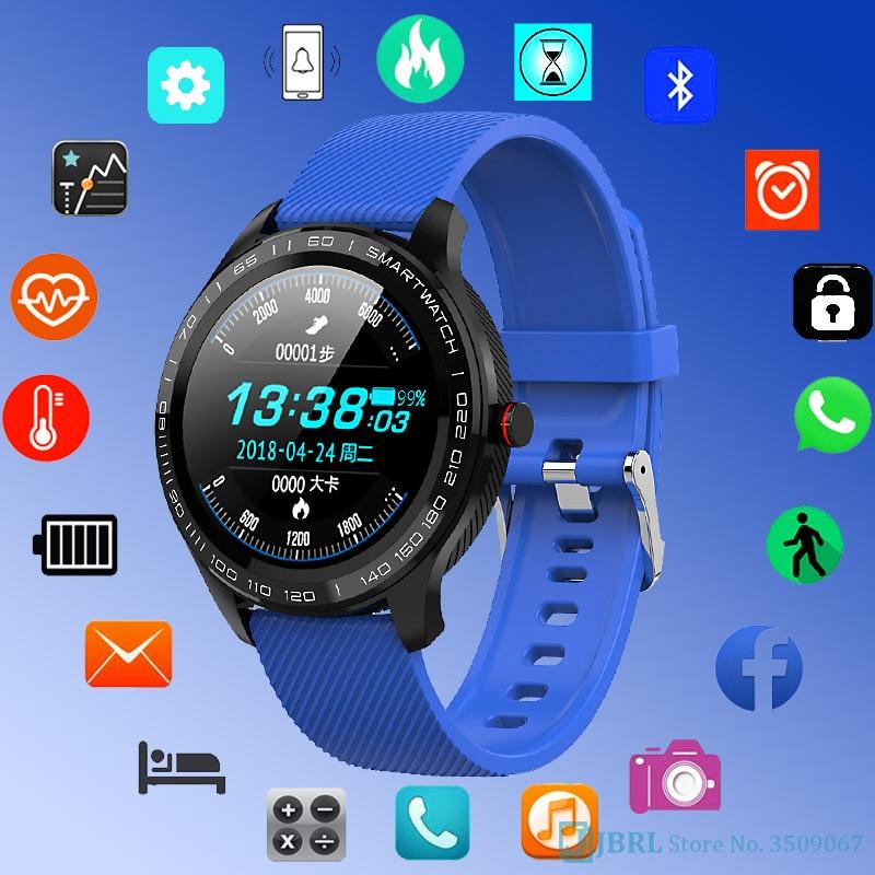 ECG Fashion Digital Watch Men Women Full Round Multi-Touchable Wristwatch IP68 Sport Watches For Men Bluetooth Reminder/ Music