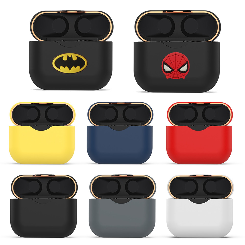 Silicone Protector Frame Shell For Sony WF-1000XM3 Case The Avengers Cute Protective Cover For WF 1000XM3 Earphone Charging Box