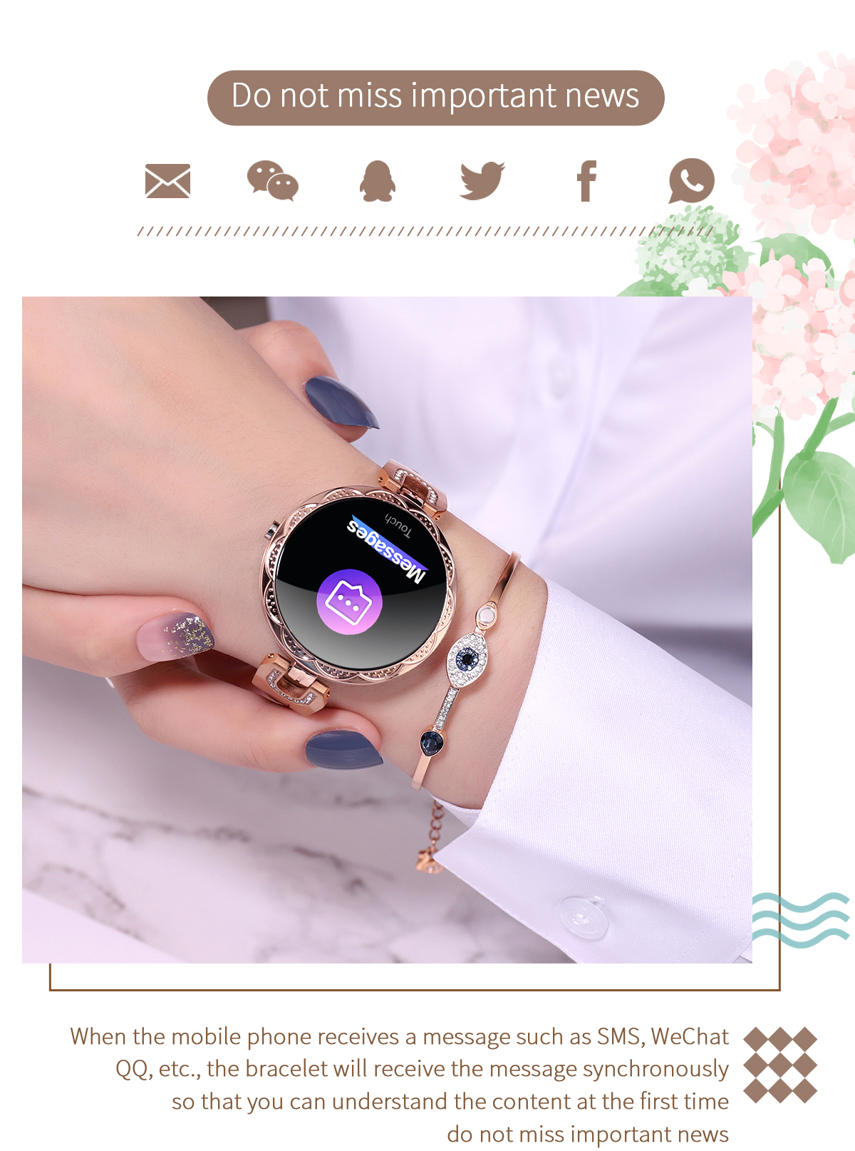 H851e7e421bab4c258bd6523e674c5a74a COBRAFLY AK15 Smart Watch Women Bracelet Heart Rate Monitoring IP67 Waterproof Fitness Tracker Ladies Watches for Xiaomi Iphone