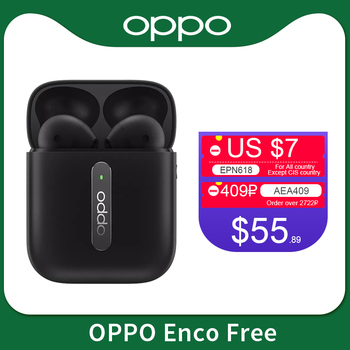 Oppo Enco Free Bluetooth 5.0 Wireless Earphone TWS Noise Cancellation Earphone IPX4 For Reno 4 Pro 3 Ace 2 Find X2 Pro