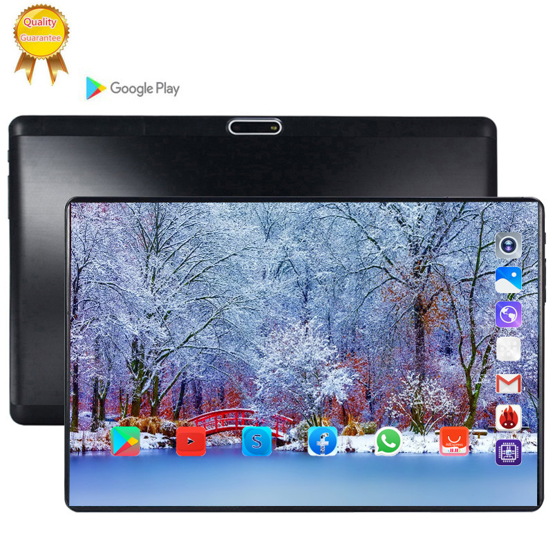 Tablet 128G Global Bluetooth Wifi Version Android 9.0 10.1 Inch Tablet Octa Core 6GB RAM 64GB 128GB ROM 2.5D Screen Tablets Pc