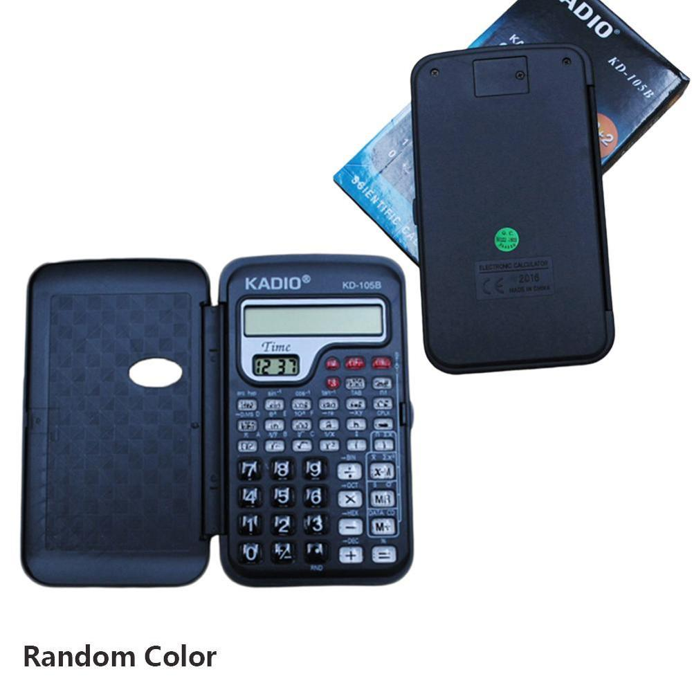 Portable Multifunctional Pocket Handheld Scientific Calculator With Clock Student School College For Mathematics Teaching