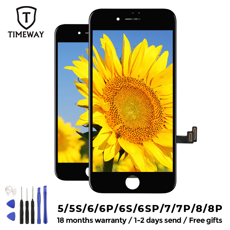 Tianma Quality LCD Display For iPhone 6 7 8 6S Plus Touch Screen Replacement For iPhone 5 5S SE Display No Dead Pixel With Gift(China)