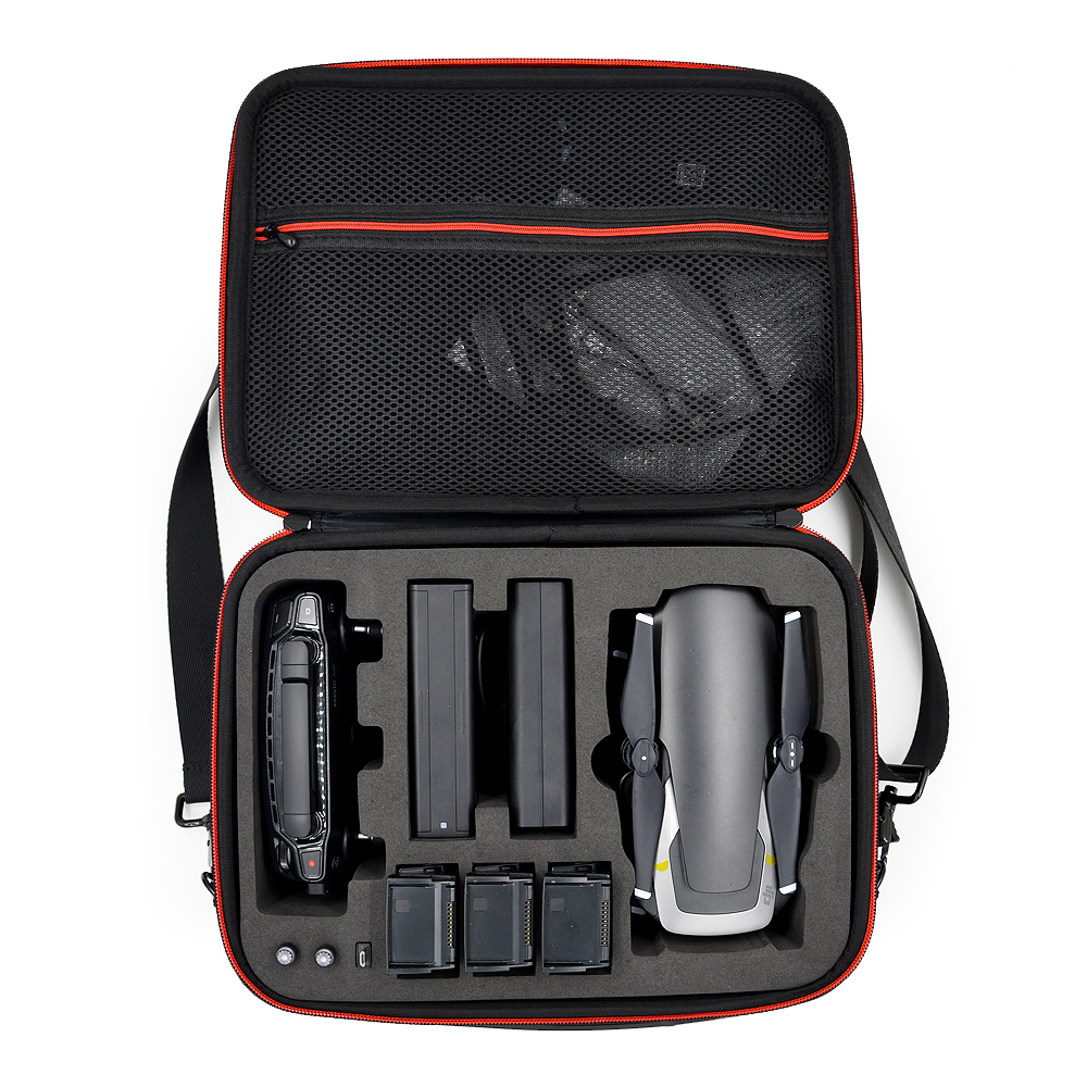 Waterproof PU Handbag Storage Bag Carrying Case For MAVIC Air Drone Controller 3 Batteries Accessories