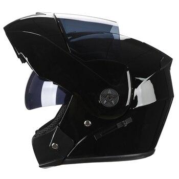 2 Gifts Unisex Racing Motorcycle Helmets Modular Dual Lens Motocross Helmet Full Face Safe Helmet Flip Up Cascos Para Moto kask 9