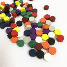100 peças de jogo de madeira do peão do diâmetro 10*5mm 10 cores dos pces colorido/xadrez para o jogo de tabuleiro/jogos educativos acessórios