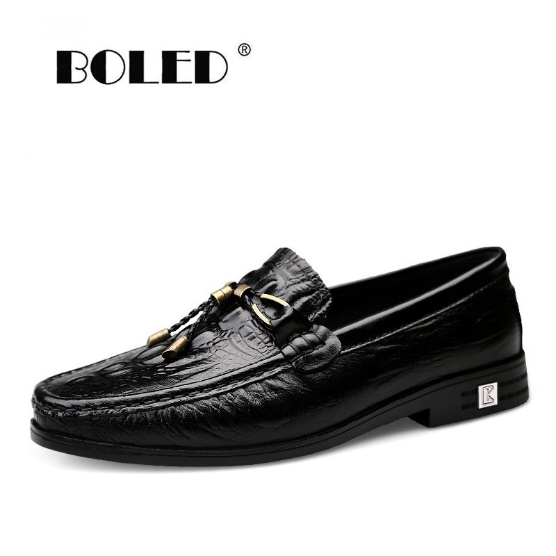 Natural Leather Men's Casual Shoes British Style Moccasins Flats Zapatos Hombre Loafers Shoes Men Winter&Sping Chaussures
