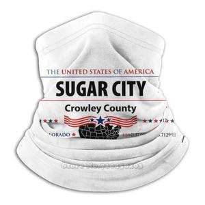 Сахарный город, округ Кроули, Колорадо с американскими флагами США, микрофибра, шейный обогреватель, бандана, шарф, маска для лица, сахарный город