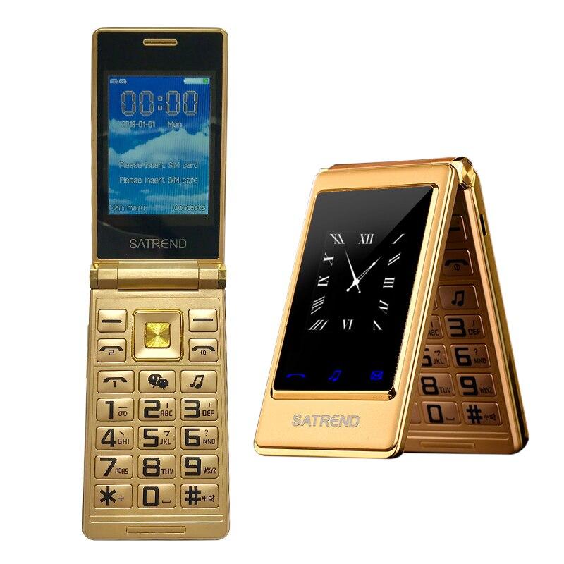 Фото. MAFAM Тонкий флип 3,0 дюймов двойной экран старший мобильный телефон Dual Sim MP3 MP4 FM раскладушка