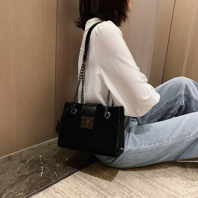 Scrub Leather Crossbody Bags For Women 2020 Small Luxury Quality Shoulder Messenger Bag Female Travel Chain Handbags and Purses
