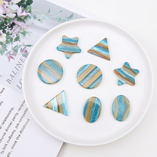 new hot sale fashion fresh lines oval triangle star round acetate pendant earrings for women material diy jewelry accessories