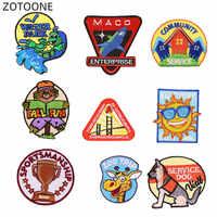 Zotoone Sew on Ricamato Patch di Trasferimento di Calore di Ferro su Animali Distintivo per I Vestiti Jeans Fai da Te Dog Shark Toppe E Stemmi per I Bambini applique G